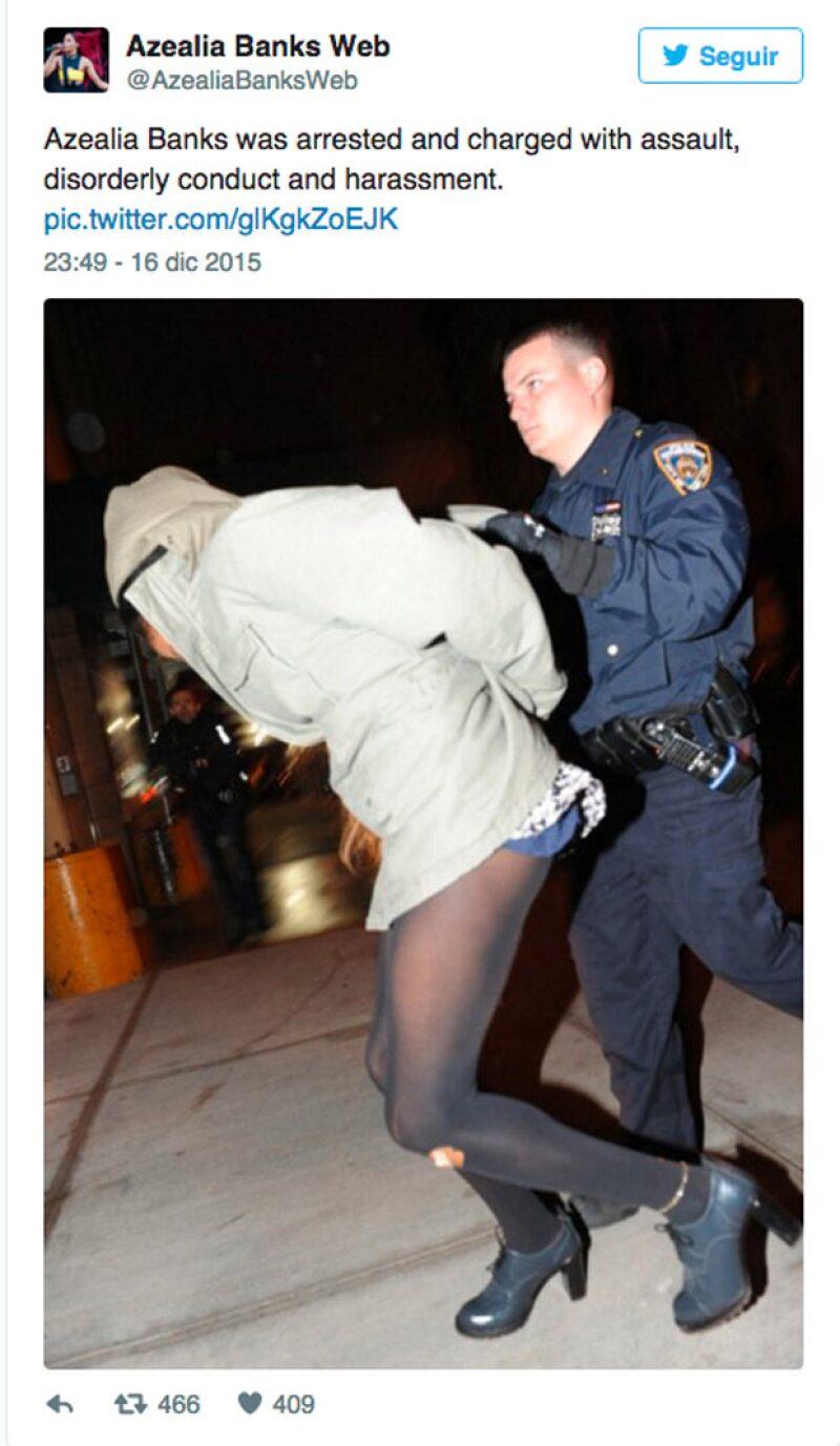 La llevaron al departamento de policía para que rindiera su declaración y posteriormente fue liberada.