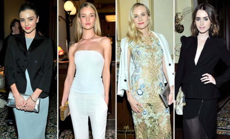 Miranda Kerr, Rosie Huntington, Diane Kruger y Lilly Collins también asistieron a la gala en Chateu Marmont en Hollywood.