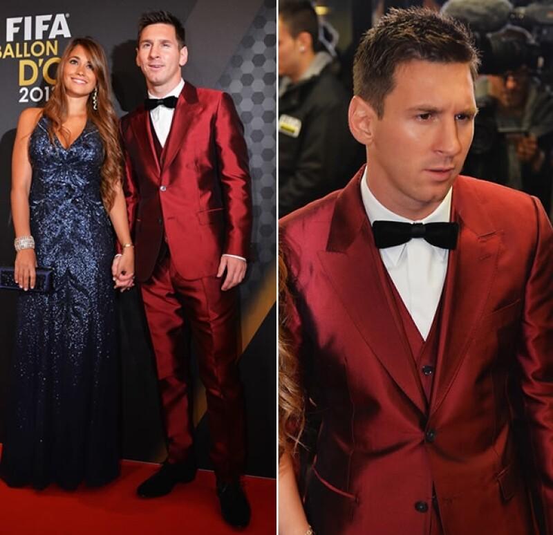 Messi usó un color muy arriesgado.