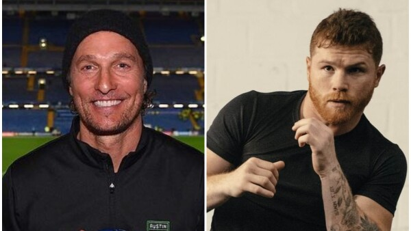 Saúl 'Canelo' Álvarez y Matthew McConaughey