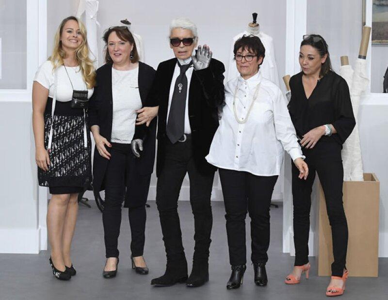 En esta ocasión no fue Gigi, ni Kendall, ni el propio Káiser de la moda qien se robó el desfile de Alta Costura de Chanel.