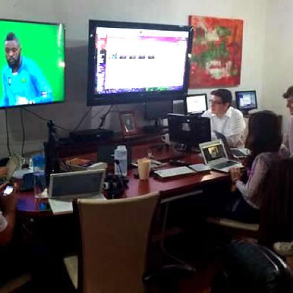 'Trabajando y escuchando!', así siguieron el partido del Tricolor GRUPO PTM