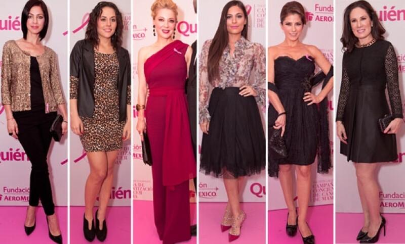 Ayer por la noche se dieron cita algunas famosas como Gloria Calzada, Alessandra Rosaldo, Ana Brenda, entre otras para formar parte de las voceras de lucha en contra del cáncer de mama.