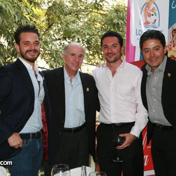 Diego Cuaik, Francisco Mijares Noriega, Pablo Gutiérrez y Eucario González