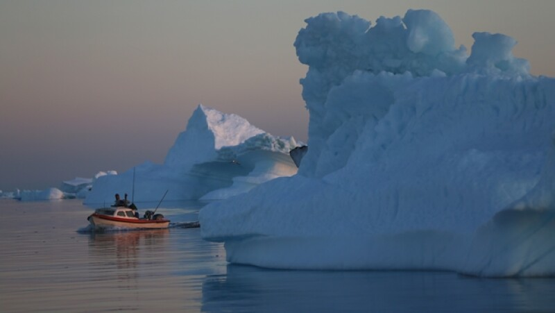 glaciar barco
