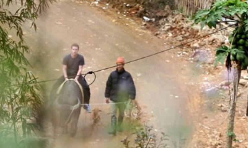 En su viaje por Vietnam, Mark Zuckerberg montó un búfalo. (Foto: AP)