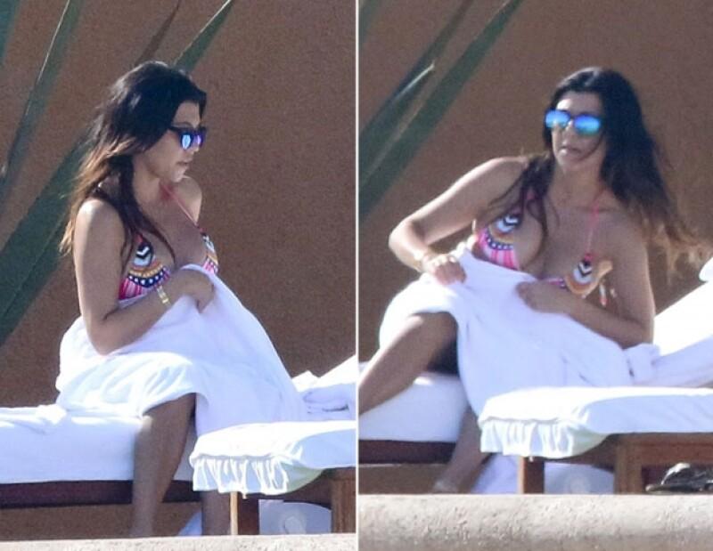 La mayor de las hermanas Kardashian tiene una debilidad por las playas mexicanas, donde decidió celebrar su cumpleaños 35.