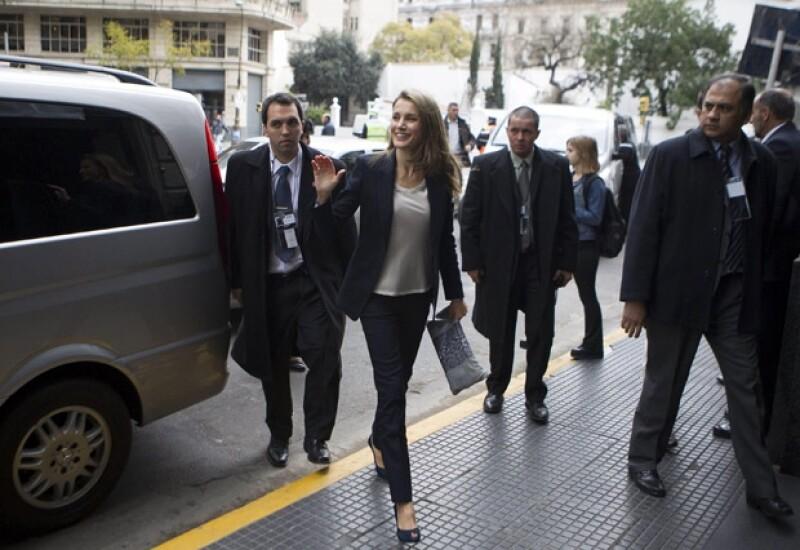 Los príncipes de Asturias se encuentran en Buenos Aires, Argentina debido a que quieren promover España como sede de los Juegos Olímpicos de 2020.