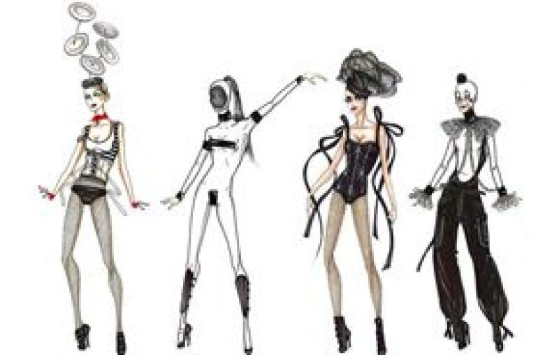 En el show de la cantante se verán trajes de trapecista, payaso o juglar para sus bailarines, mientras que ella será una domadora de leones y usará estampados de Perez Hilton, entre otros diseños.