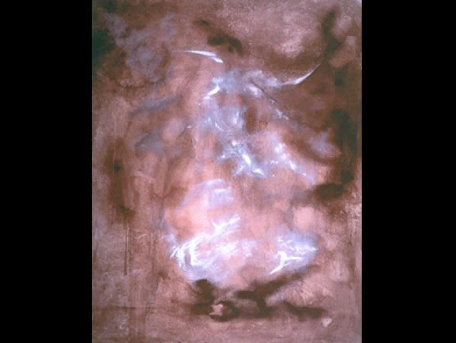 """Según Ramos, """"el color constituye un fenómeno lumínico en la obra de Martí"""". """"El toro"""" (2003), acrílico sobre tela, 1.50 x 1.20 m"""
