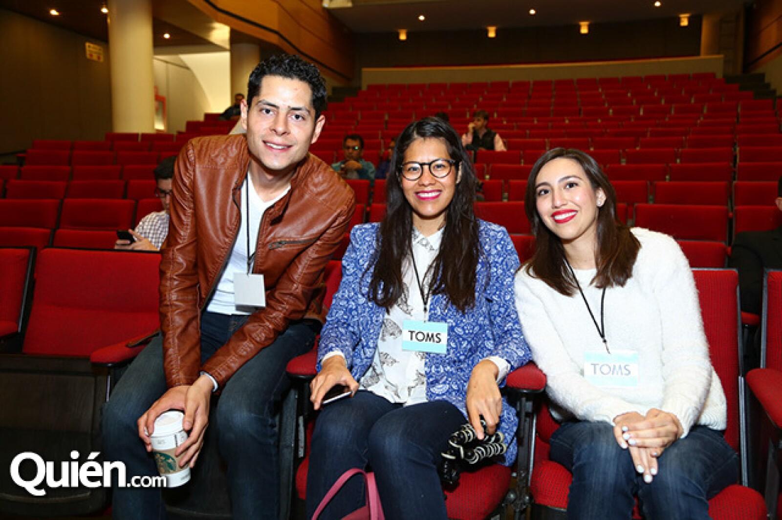 Jorge Carballo, Bere Hernández y Diana Romero