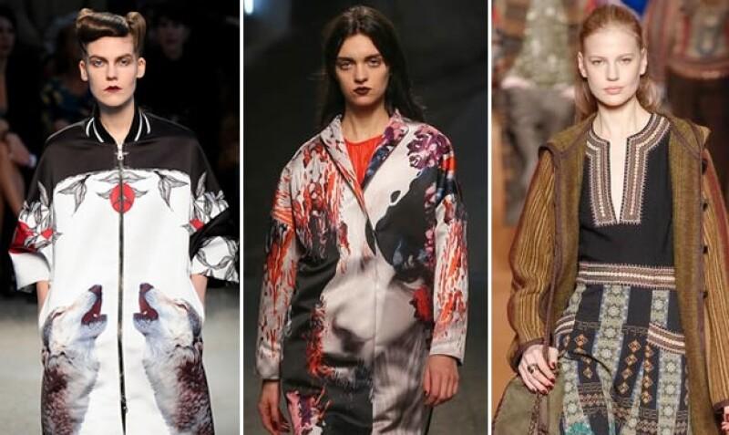 Etro, Antonio Marras y MSGM proponen un estilo dark en boca y uñas.
