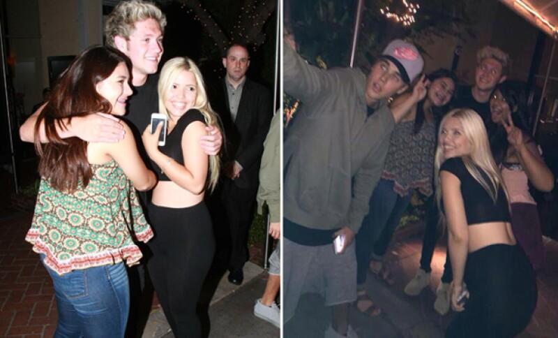 Las tres estrellas musicales se juntaron para disfrutar de su soltería, e incluso estuvieron un buen rato con sus seguidoras, con quienes posaron para fotografías y selfies.