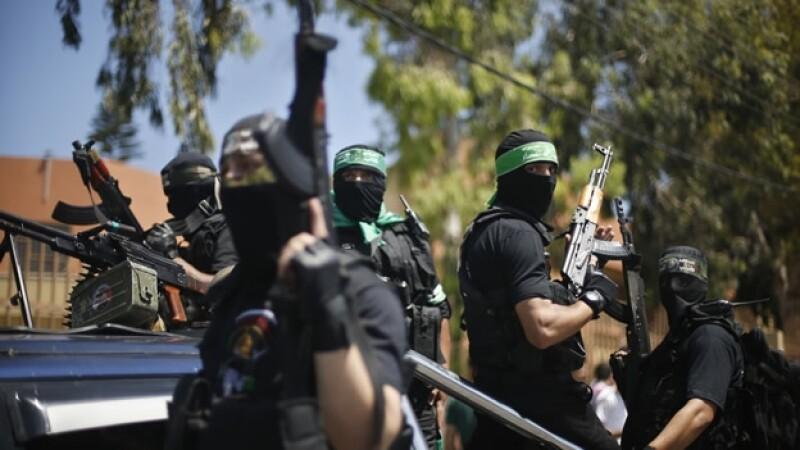 Hamas combatientes palestinos