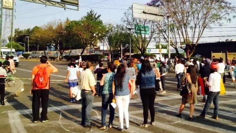 Protesta en Copilco