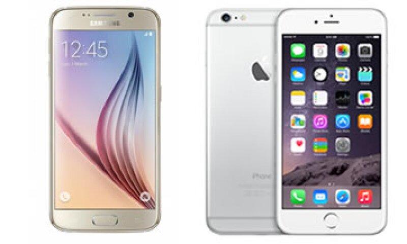 El precio inicial del Galaxy S6 (izq) será de 781 dólares. (Foto: Especial )