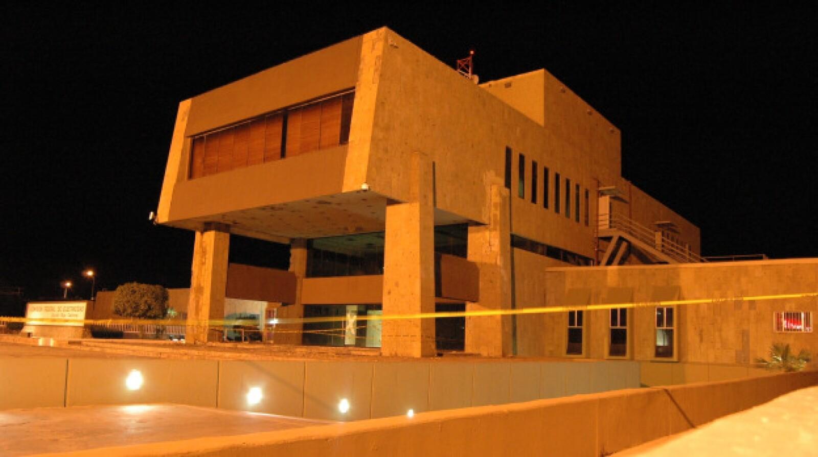 Las oficinas de la Comisión Federal de Electricidad, en el centro de Mexicali