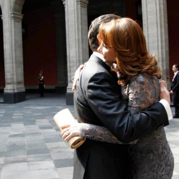 El presidente Enrique Peña Nieto y su esposa Angélica Rivera.