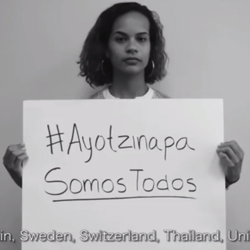 La desaparición de los estudiantes ha generado, desde hace un mes, diversas reacciones internacionales, esta vez los estudiantes de universidades de prestigio alzaron la voz.