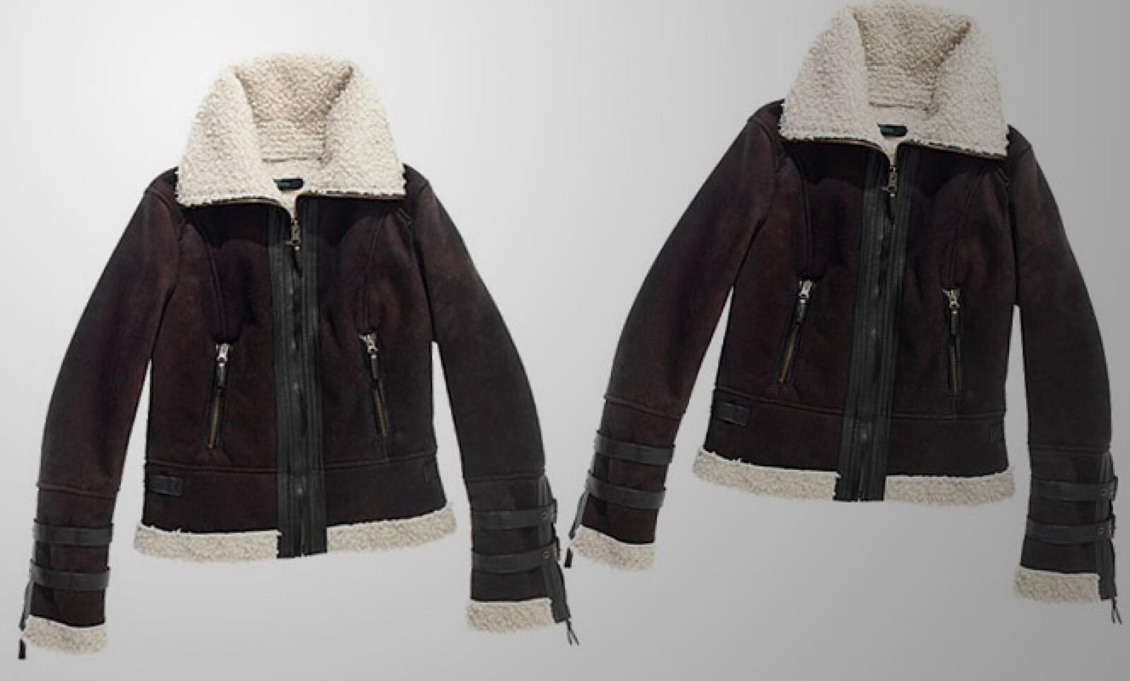 Esta chamarra de piel de borrego te puede proteger contra el frío de las mañanas.