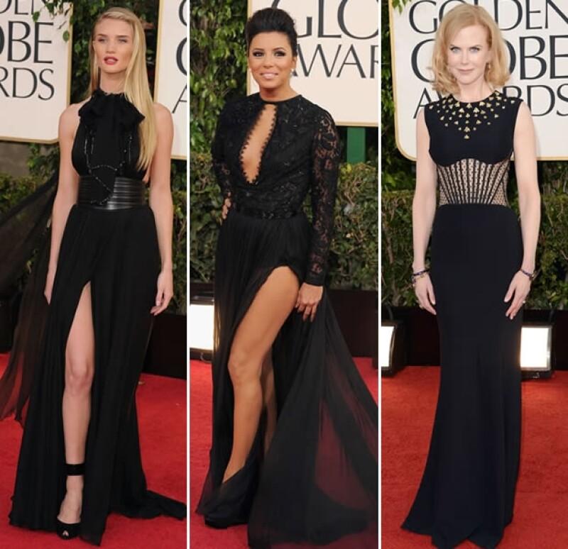 En negro vimos a Rosie Huntington, Eva Longoria y Nicole Kidman.