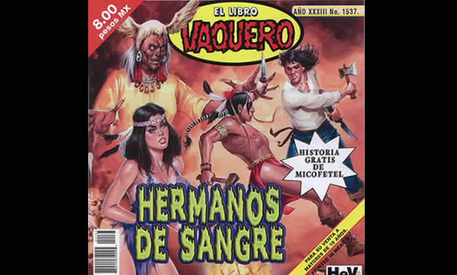 La Cofetel se estrenó en la famosa publicación erótica el Libro Vaquero con una historia en su más reciente edición.