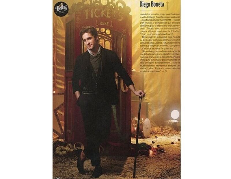 Diego en una de las páginas de People en Español.