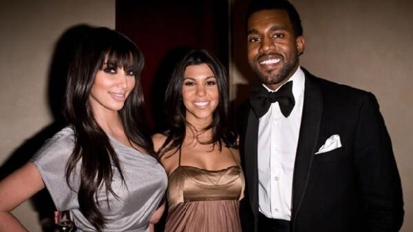 La relación de Kanye con su cuñada Kourtney también es muy buena.