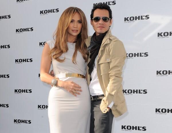 Jennifer Lopez y Marc Anthony ganaron el premio a la Separación del año.