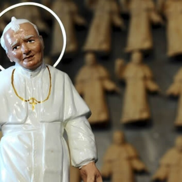 Juan Pablo II - figurita Napolés
