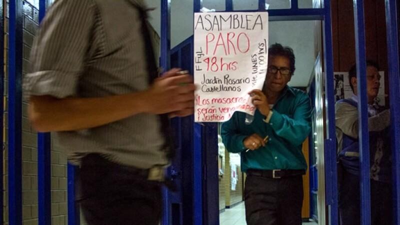 Paro en la UNAM por estudiantes de Iguala