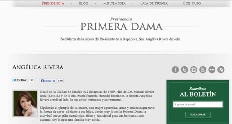 Ese título que se les pone a las esposas de los presidentes en México no es oficial y ha sido utilizado por la prensa por imitación de Estados Unidos.