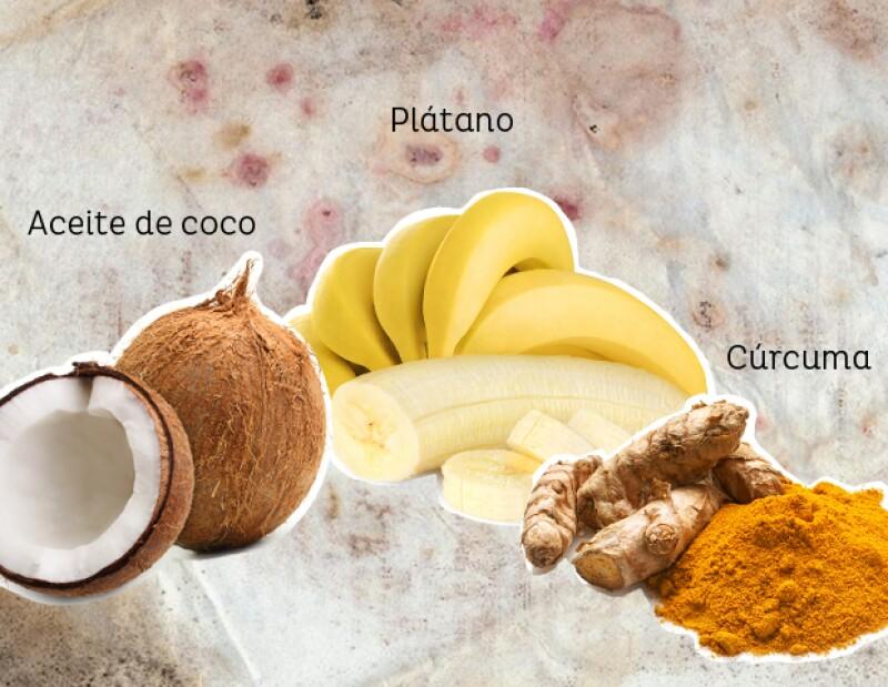 Mascarilla de aceite de coco para desinflamar la piel.