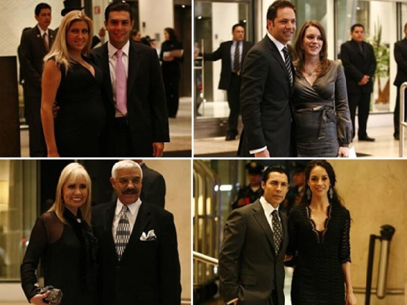 Los invitados a la boda llegaron puntuales. Paulina Díaz Ordaz y su pareja, Jan y su mujer; Carla Estrada y su acompañante, así como Susana González y su pareja.