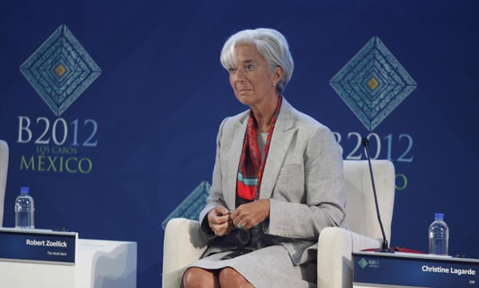La directora gerente del FMI, Christine Lagarde, se mostró a favor de que las naciones emergentes tengan una mejor representación a través de un cambio de cuotas en el Fondo para que el organismo mejore su capacidad de acción.