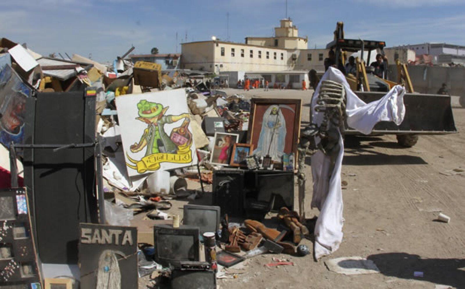 El gobierno de Nuevo León informó que destruyó todos los artículos que encontró