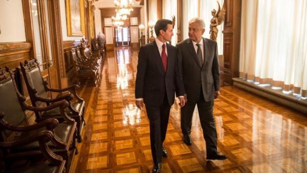 Así fue el encuentro entre López Obrador y Peña Nieto