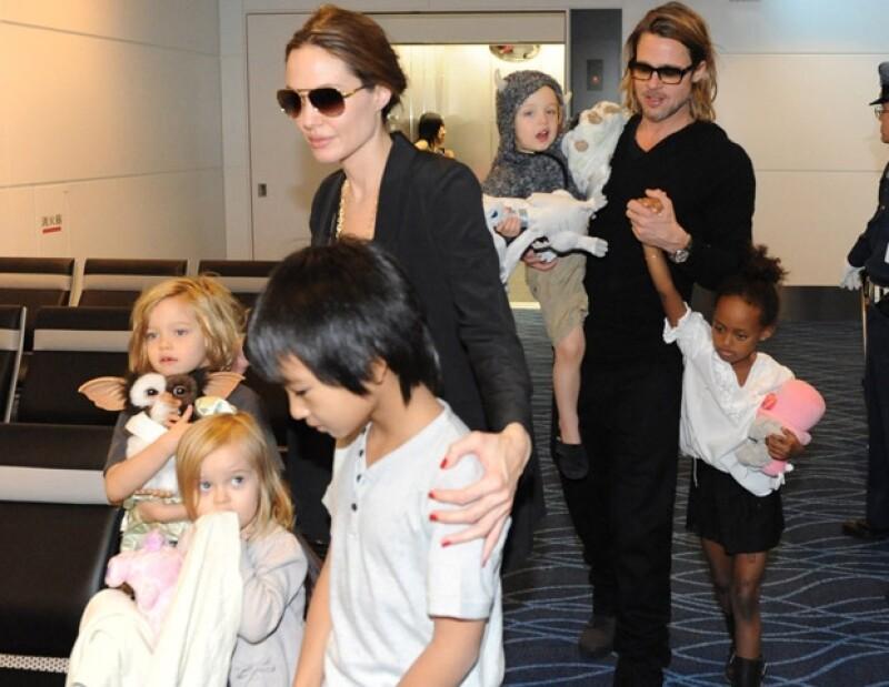 La familia Jolie-Pitt es una de las más populares de Hollywood.