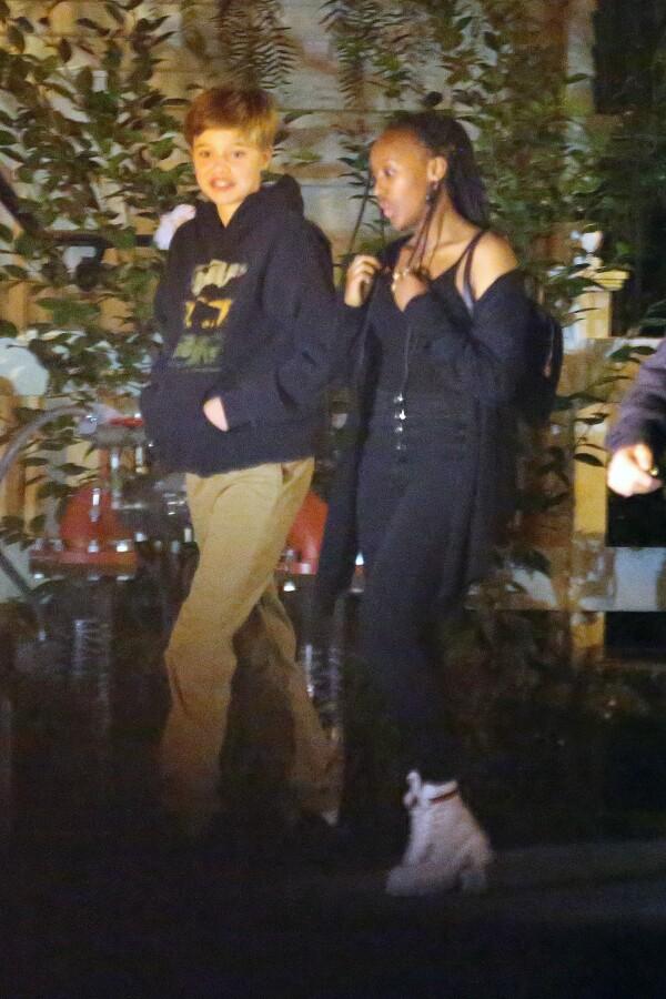 Shiloh and Zahara Jolie-Pitt