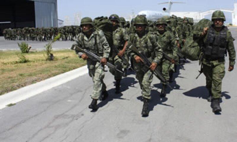La presencia del ejército en Nuevo León se intensificó a raíz del ataque al Casino Royale. (Foto: Reuters)