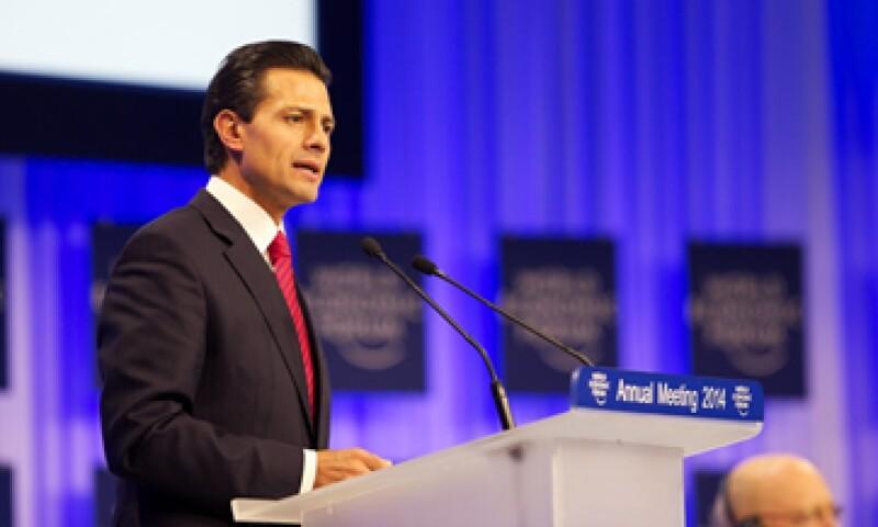 El presidente también aprovechó el foro para presumir las reformas estructurales que aprobó el Congreso.  (Foto tomada de presidencia.gob.mx)