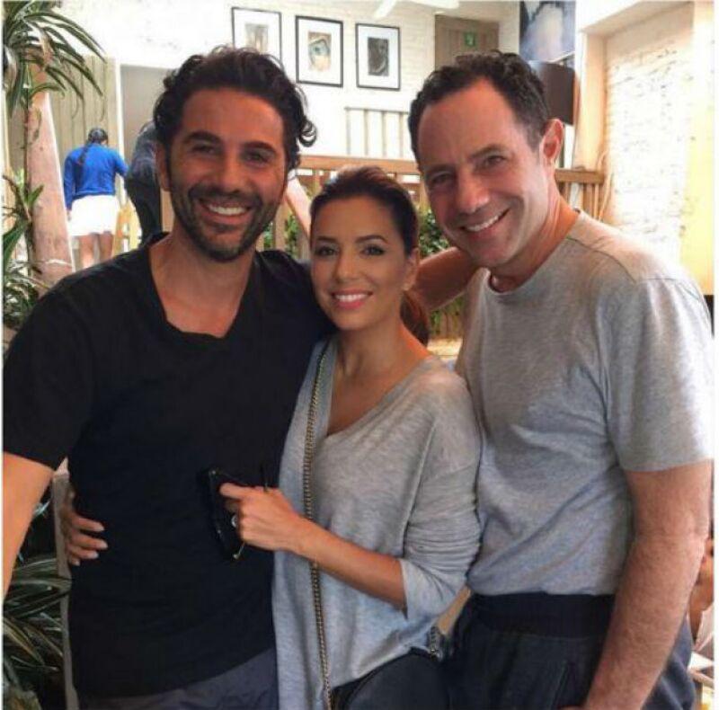 Eva y Pepe se reunieron el fin de semana con su gran amigo Sergio Berger.