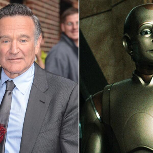 Todos nos quedamos con la boca abierta al ver a Robin Williams convertido en un robot en The Bicentennial Man.