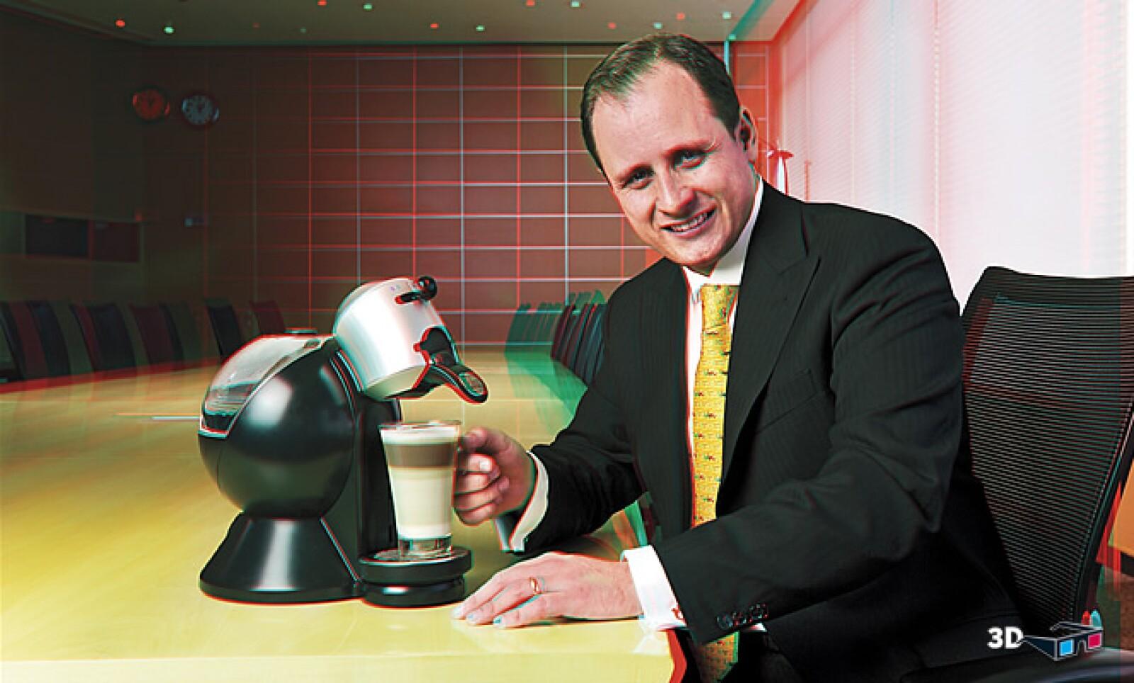 Enrique Maldonado, business manager de Nescafé Dolce Gusto. CAMPAÑA: Date gusto. PRODUCTO: Dolce Gusto. AGENCIAS: McCann Erickson, Ogilvy y Sweet Ad.