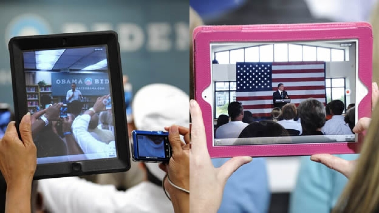 Obama Romney iPad