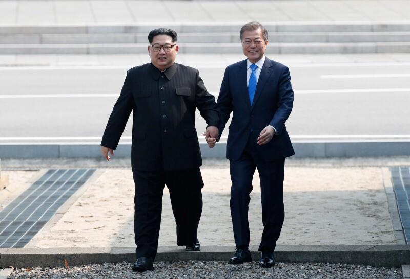 Panmunjom Corea Kim Jong Un Moon Jae In