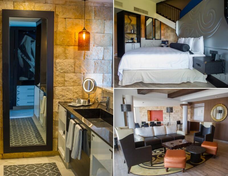 Cada suite tiene un diseño especial, además de un espacio cómodo y lujoso, de acuerdo a las necesidades del huésped.