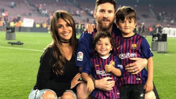 Leo Messi, Antonella Roccuzzo, Thiago y Mateo