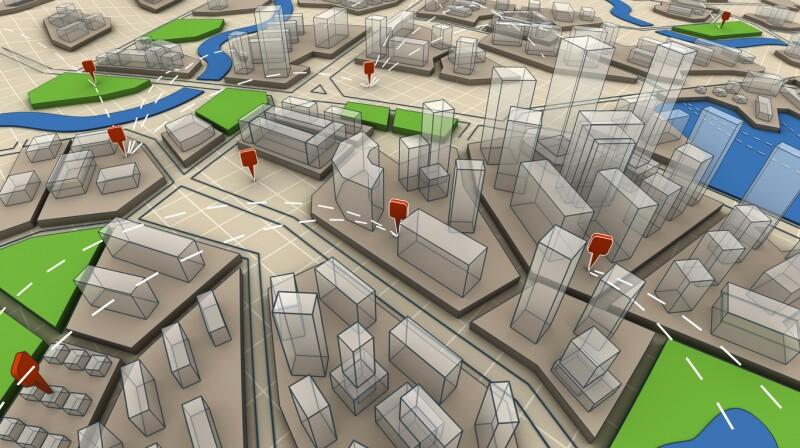 3d map navigation cartografia ciudad planeación