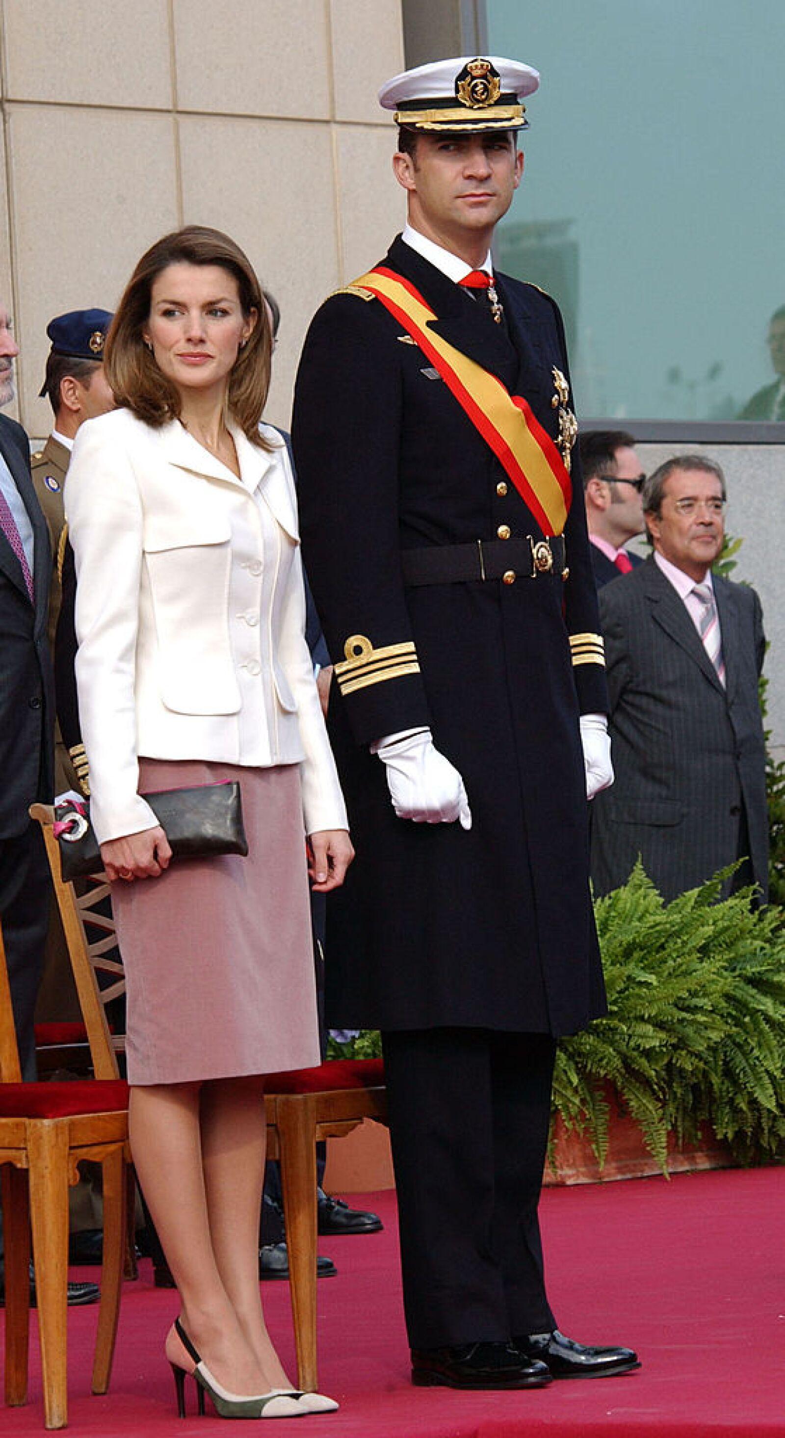 Spanish Royals Attend Naval Combat Flag Presentation